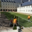 Chantier gazon de placage Abbaye Royale de Fontevraud (49)