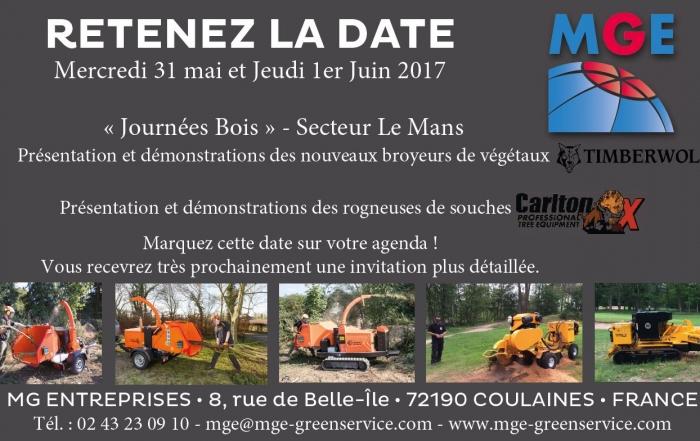 RETENEZ LA DATE – Journées Bois 31 mai et 1er juin