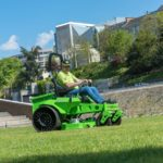 MEAN GREEN MAJORIS Plug-in electric battery powered ride-on mower