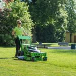 MEAN GREEN MINORIS: Plug-in electric battery powered walk-behind mower