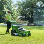 MEAN GREEN MINORIS: Plug-in electric battery powered walk-behind mower